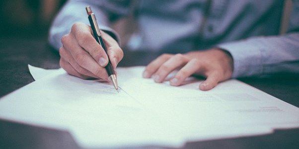 Unterzeichnung Geschäftsführeranstellungsvertrag